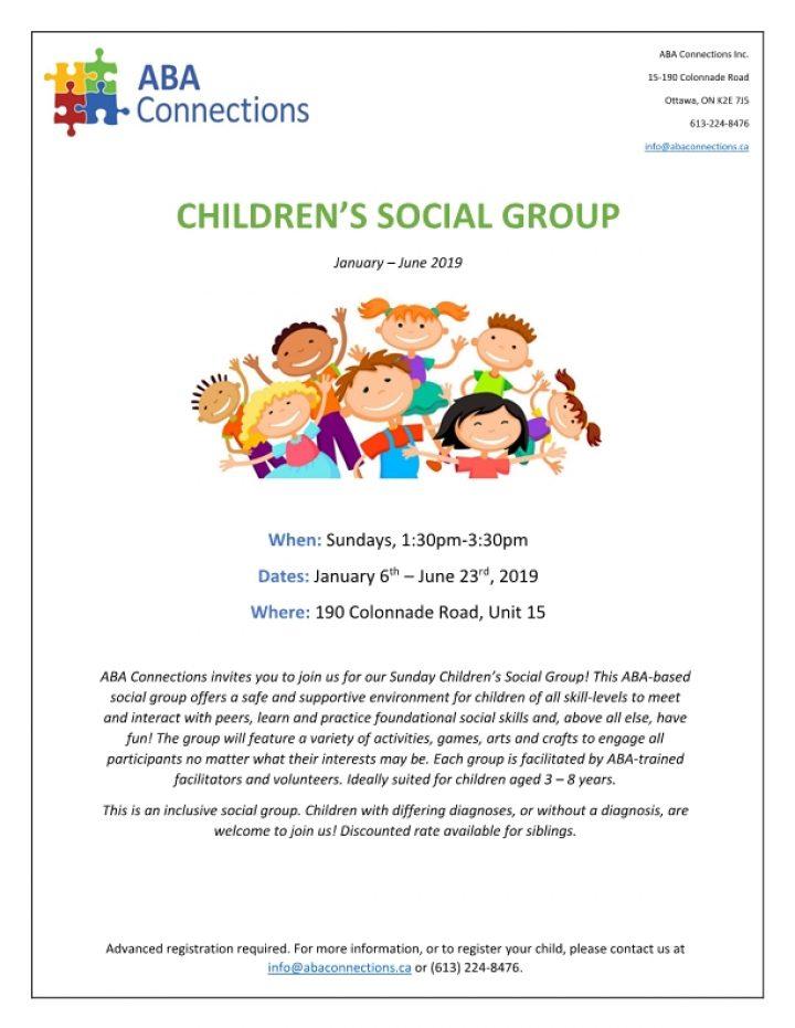 Children's Social Group Flyer 2019